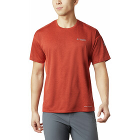 Columbia Irico T-shirt Col ras-du-cou Tricot Homme, wildfire